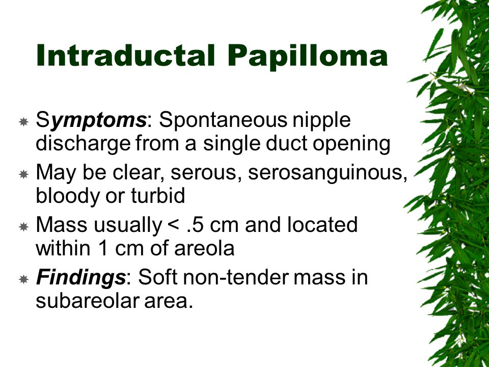intraductal papilloma etiology