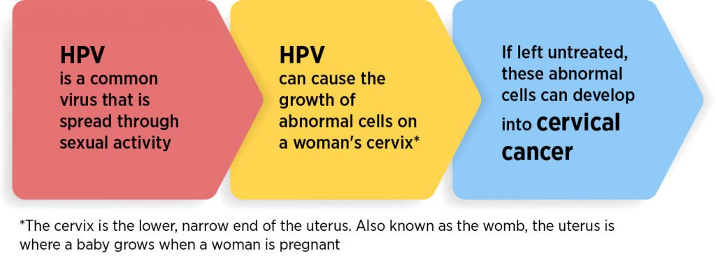 human papillomavirus can lead to cervical cancer