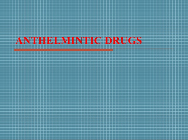 anthelmintic drugs in bangladesh