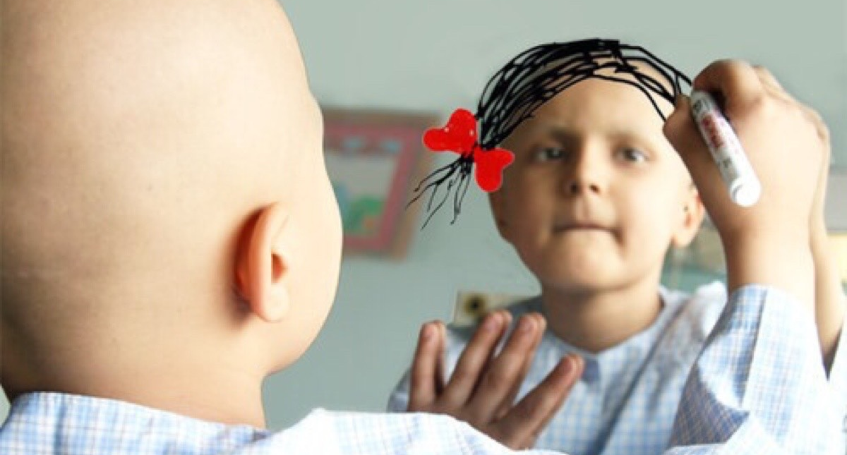 Keep her smiling!enough with cancer