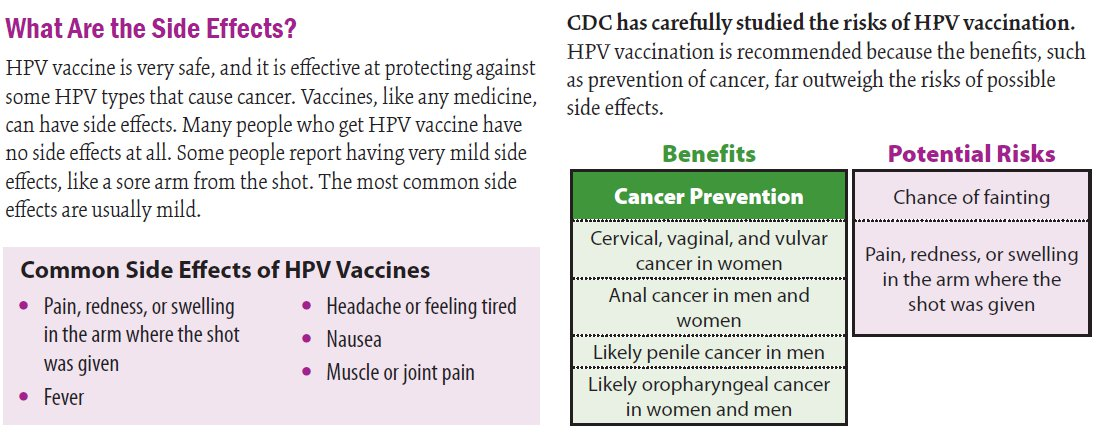 hpv vaccine fever