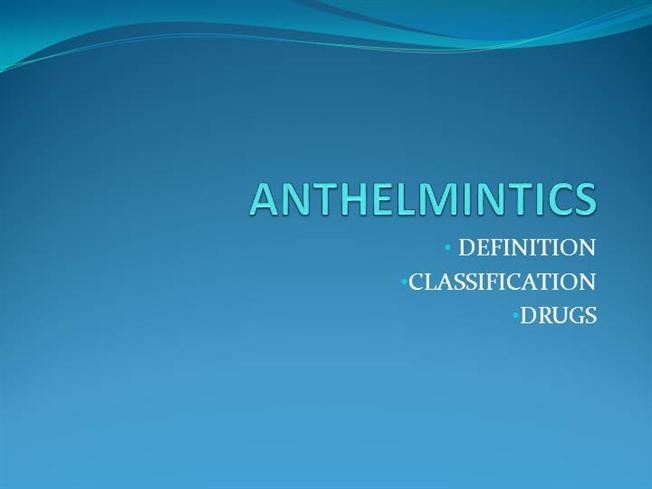 definition of anthelmintic hpv affect mouth